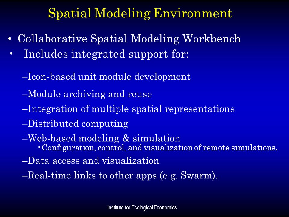 Spatial Modeling Environment