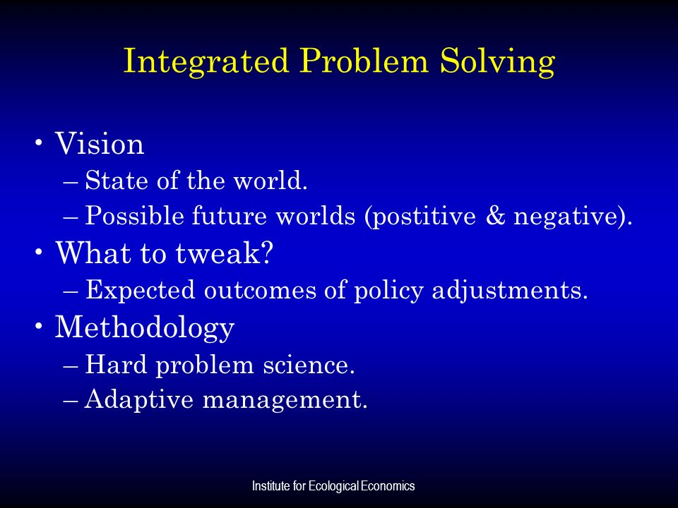 Integrated Problem Solving
