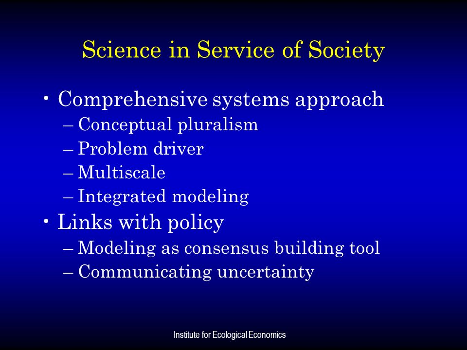 Science in Service of Society