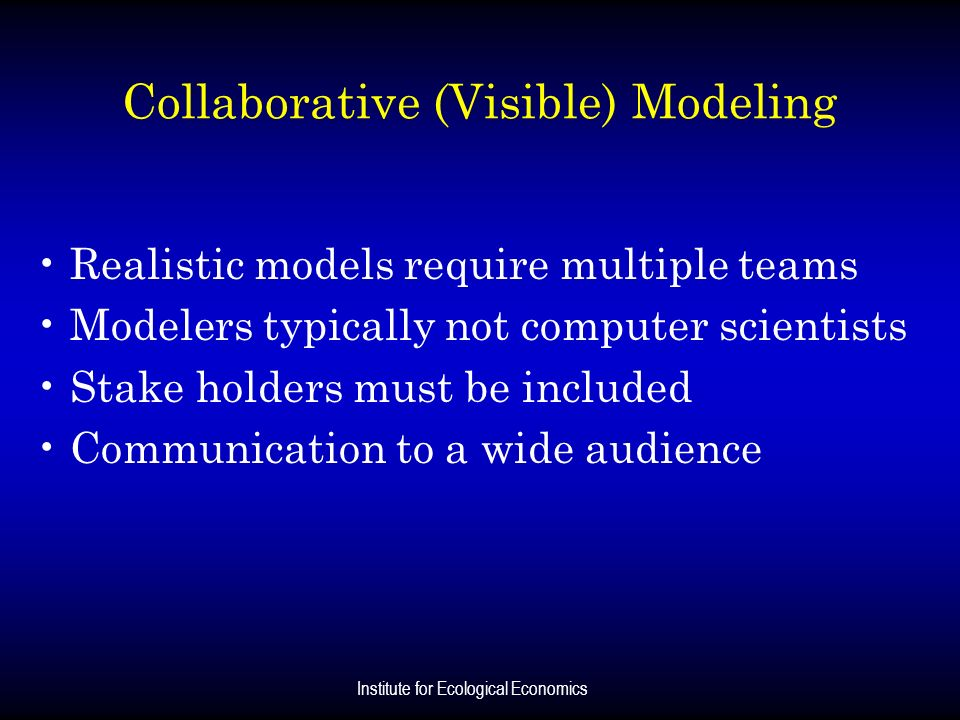 Collaborative (Visible) Modeling