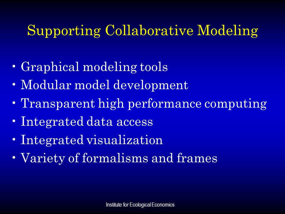 Supporting Collaborative Modeling