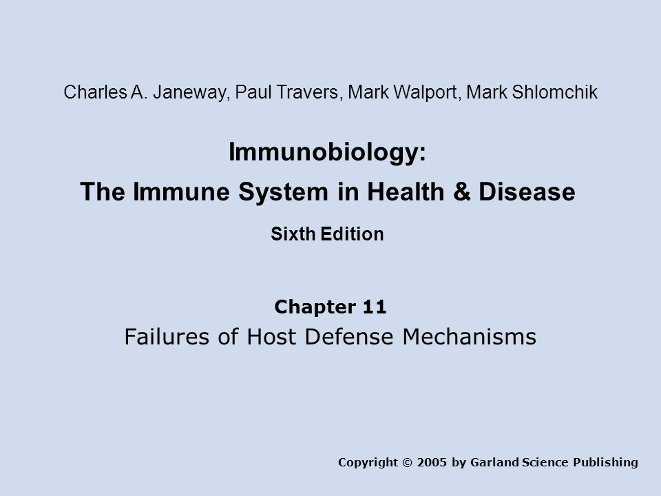 Immunobiology: The Immune System in Health & Disease Sixth Edition