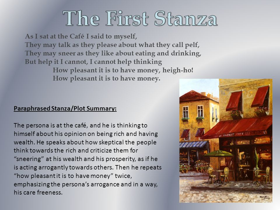 The First Stanza