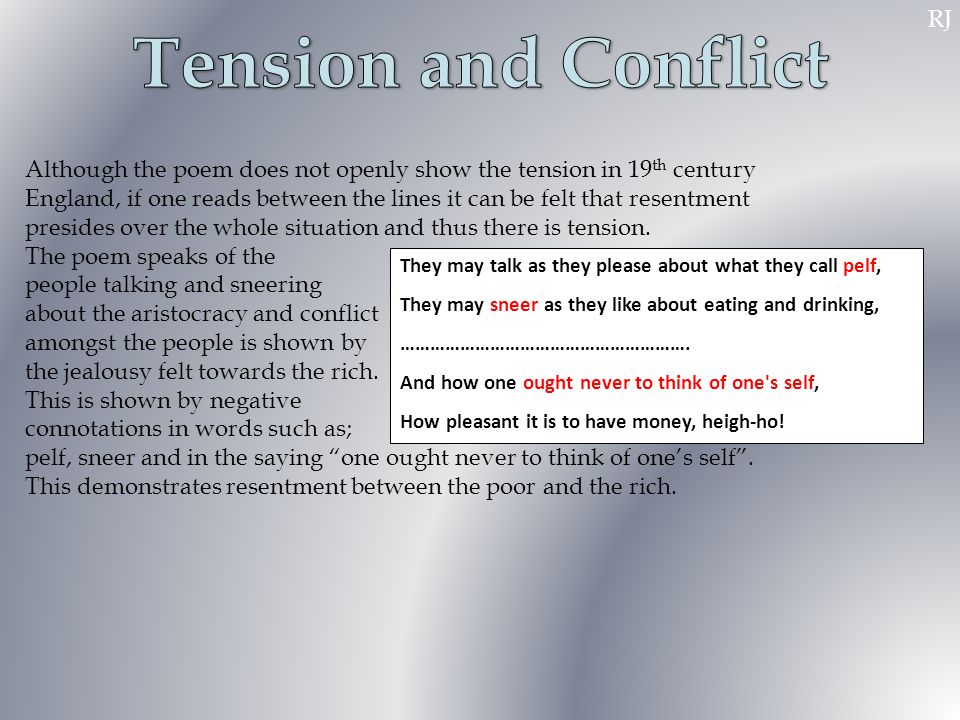 Tension and Conflict RJ