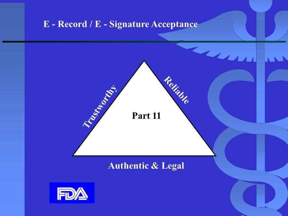 E - Record / E - Signature Acceptance