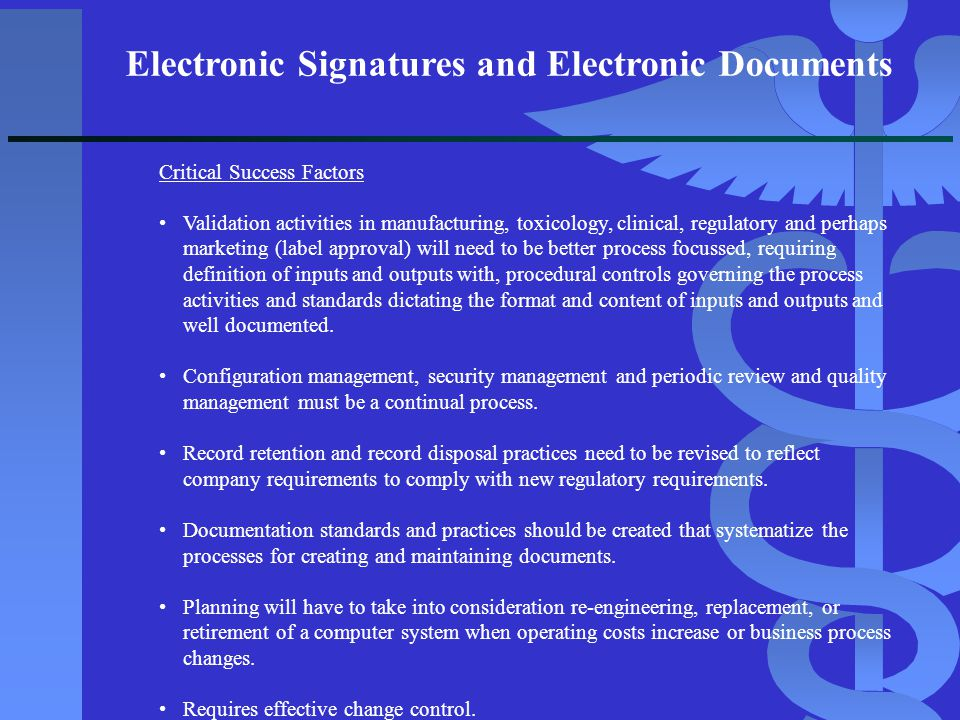 Electronic Signatures and Electronic Documents