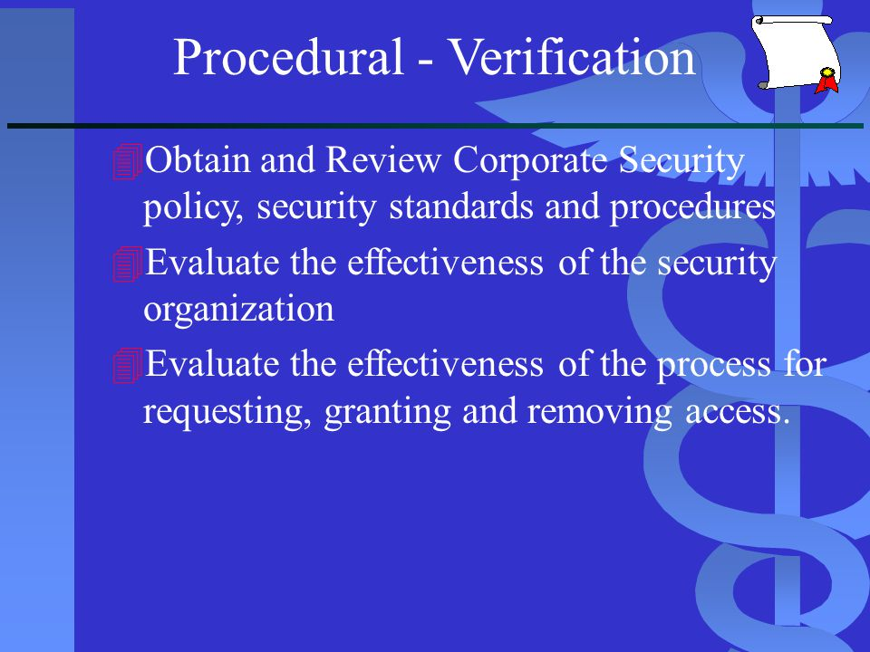 Procedural - Verification