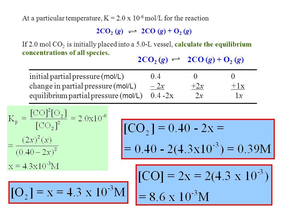 initial partial pressure (mol/L) 0.4 0 0