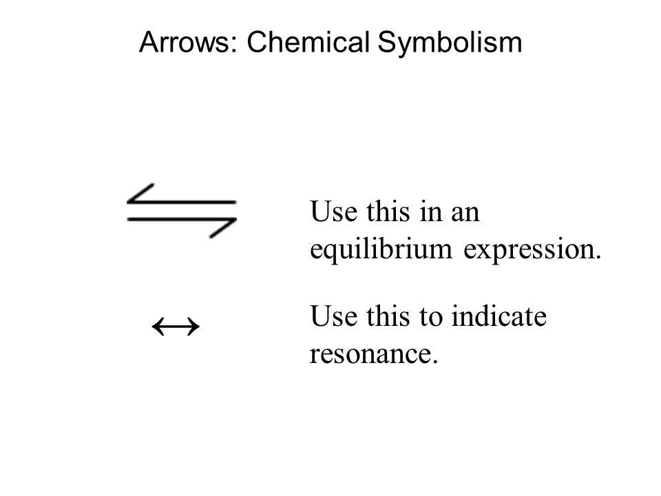 Arrows: Chemical Symbolism