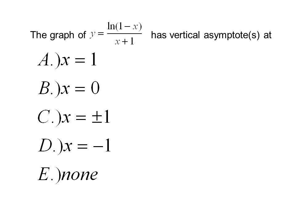 has vertical asymptote(s) at
