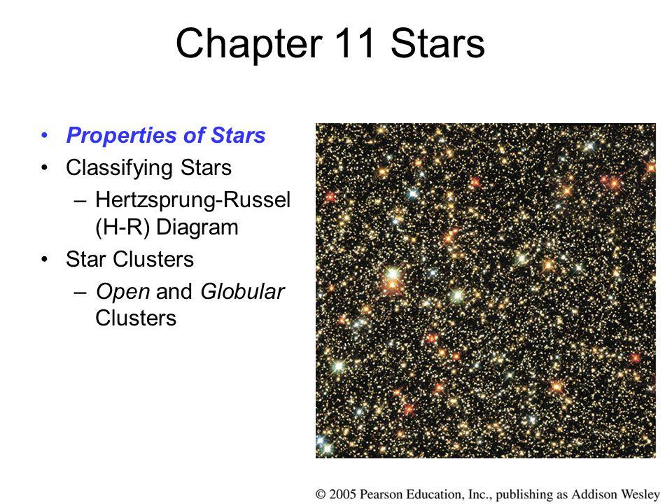 Chapter 11 Stars Properties of Stars Classifying Stars