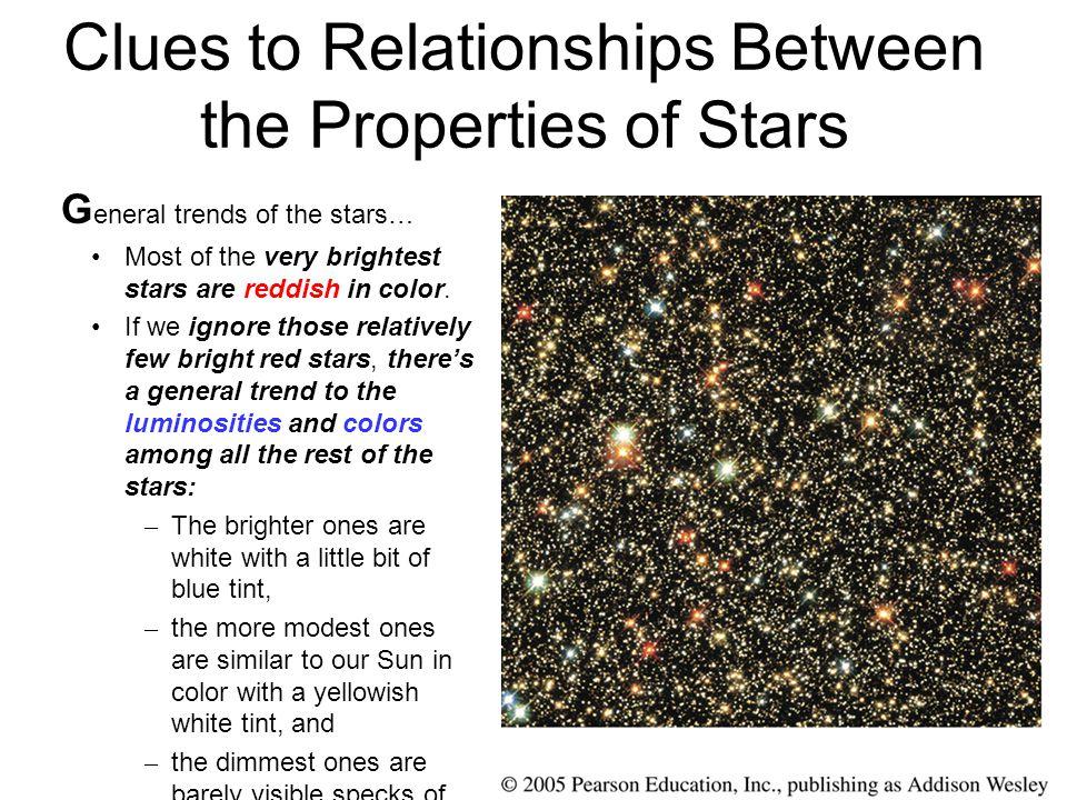 Clues to Relationships Between the Properties of Stars