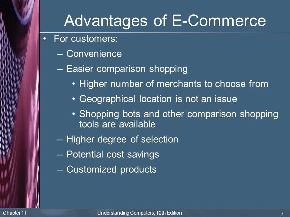 Advantages of E-Commerce