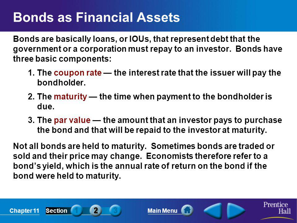 Bonds as Financial Assets