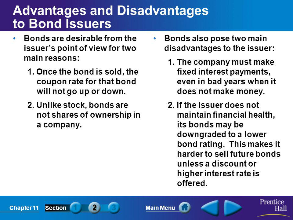 Advantages and Disadvantages to Bond Issuers