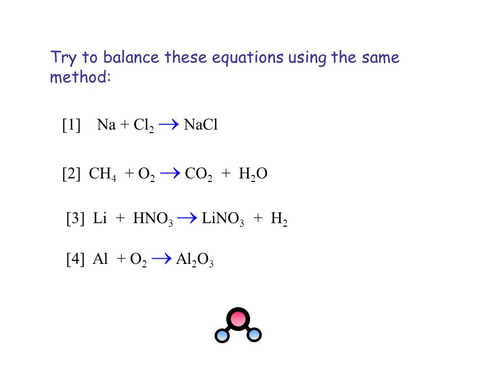 Try to balance these equations using the same method: