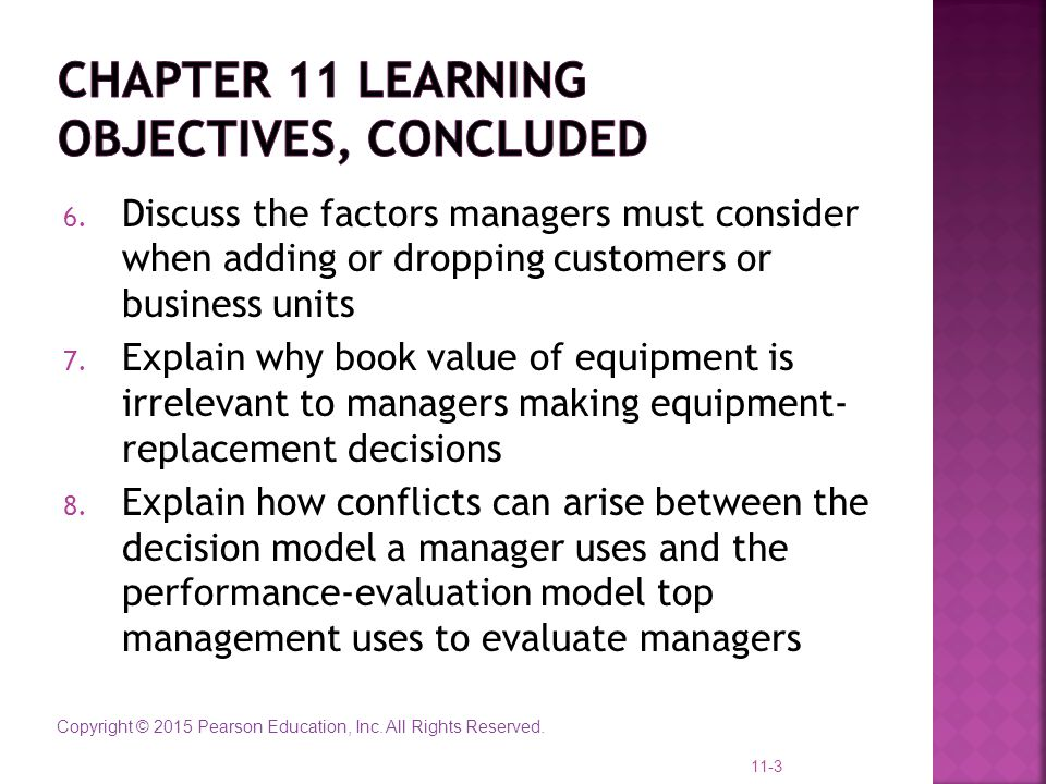 Chapter 11 learning objectives, concluded