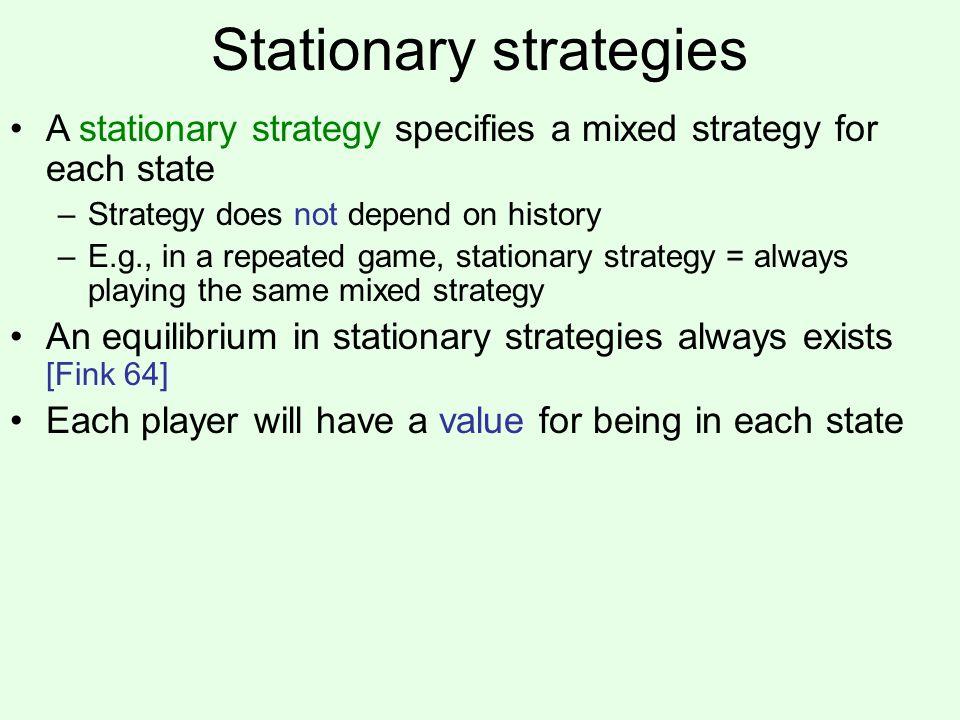 Stationary strategies