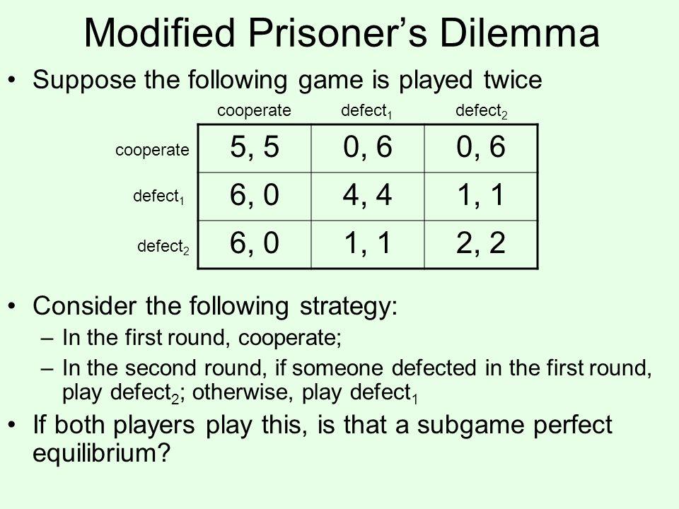 Modified Prisoner's Dilemma