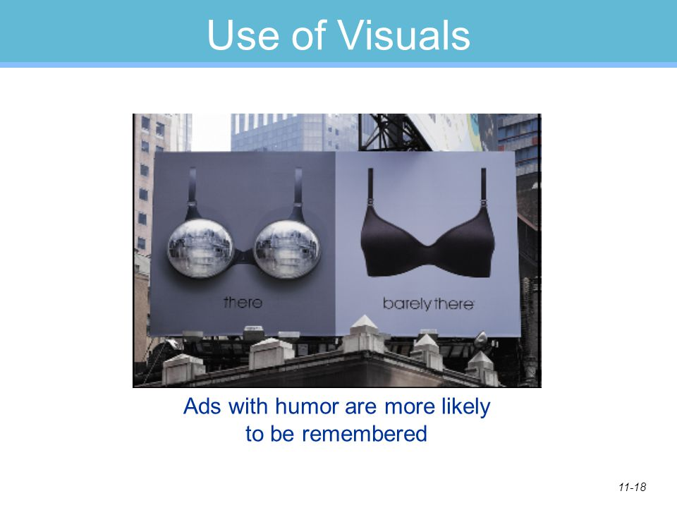 Ads with humor are more likely to be remembered