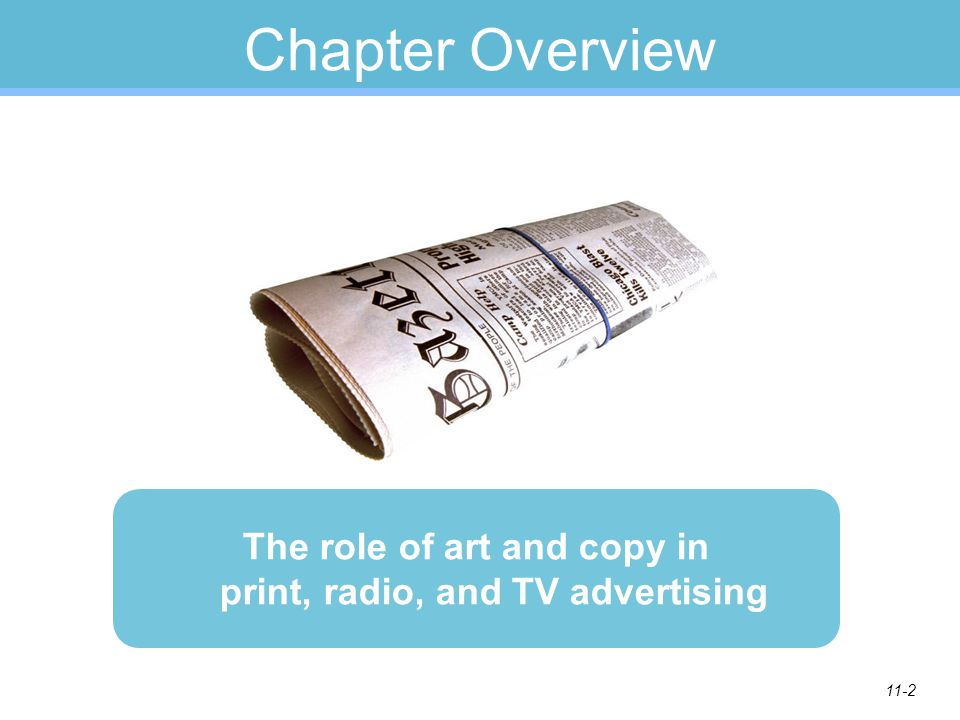 The role of art and copy in print, radio, and TV advertising