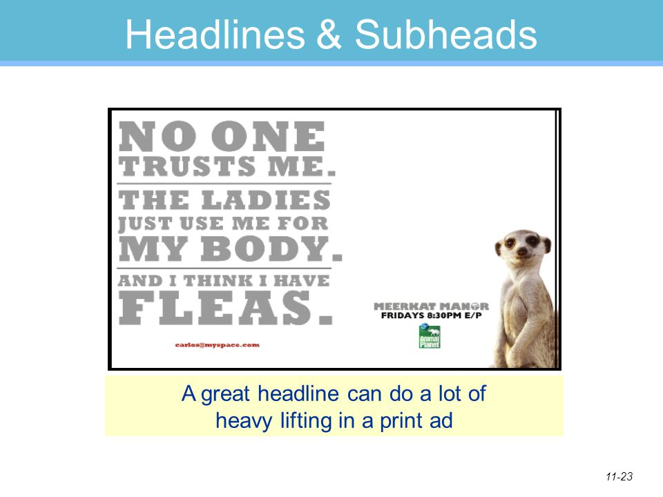 A great headline can do a lot of heavy lifting in a print ad