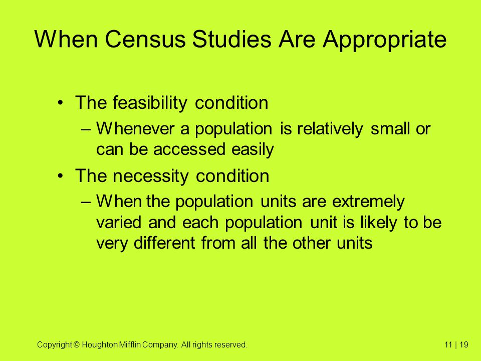 When Census Studies Are Appropriate