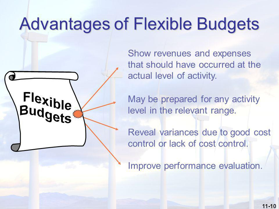 Advantages of Flexible Budgets