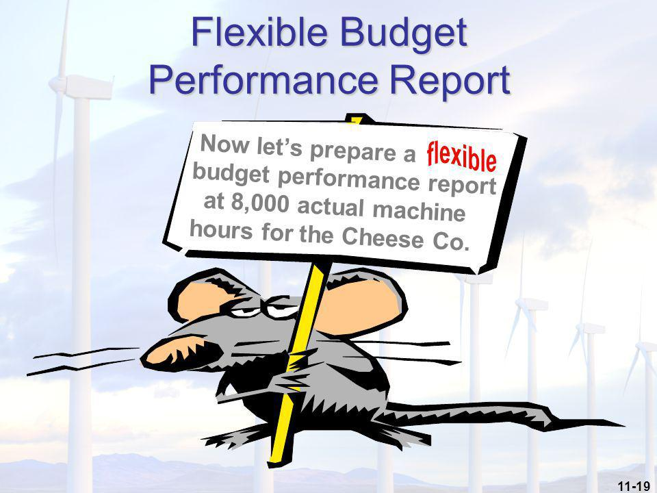 Flexible Budget Performance Report