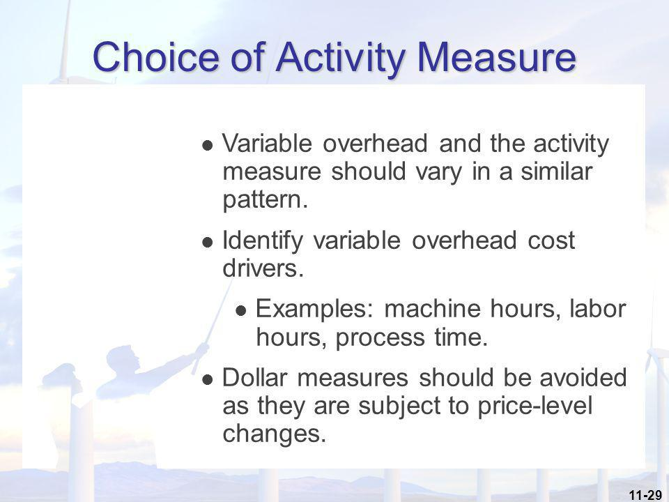 Choice of Activity Measure