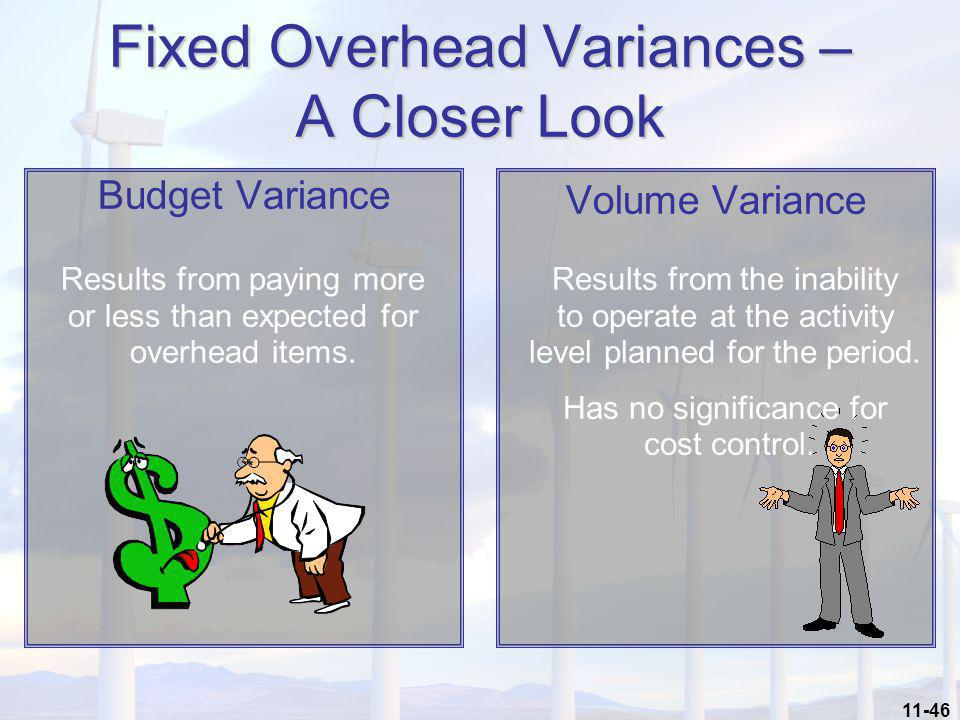 Fixed Overhead Variances – A Closer Look