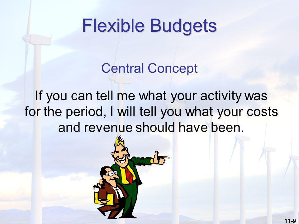Flexible Budgets Central Concept