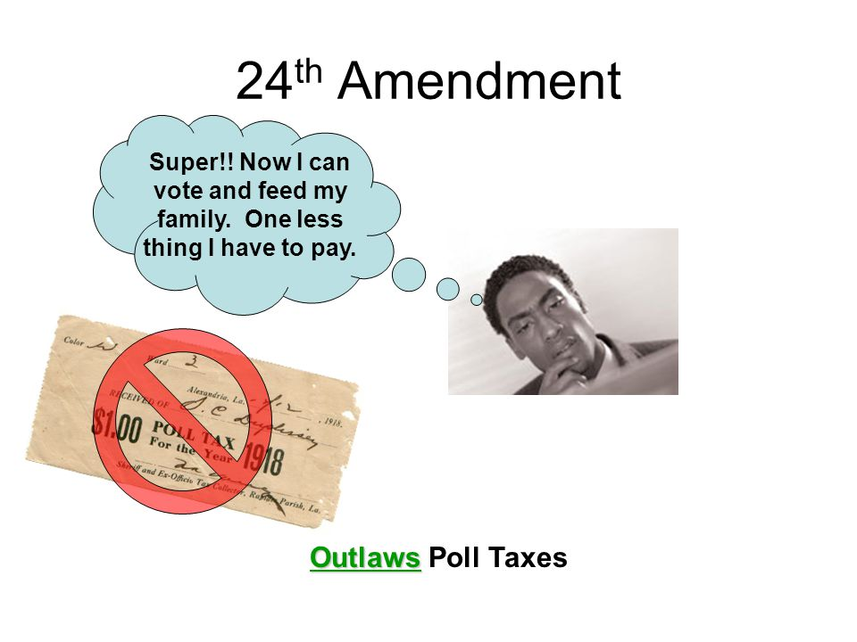 24th Amendment Outlaws Poll Taxes