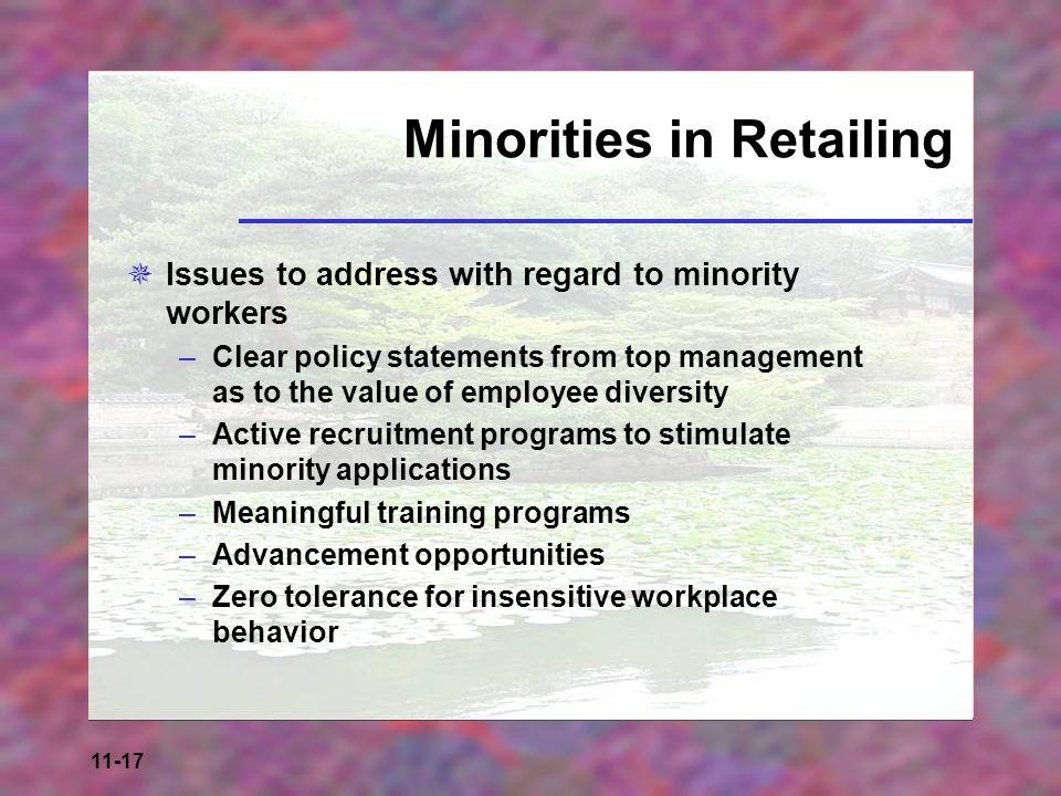 Minorities in Retailing