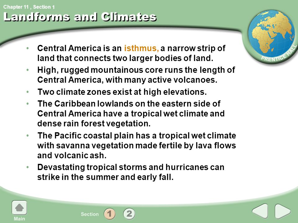 Landforms and Climates