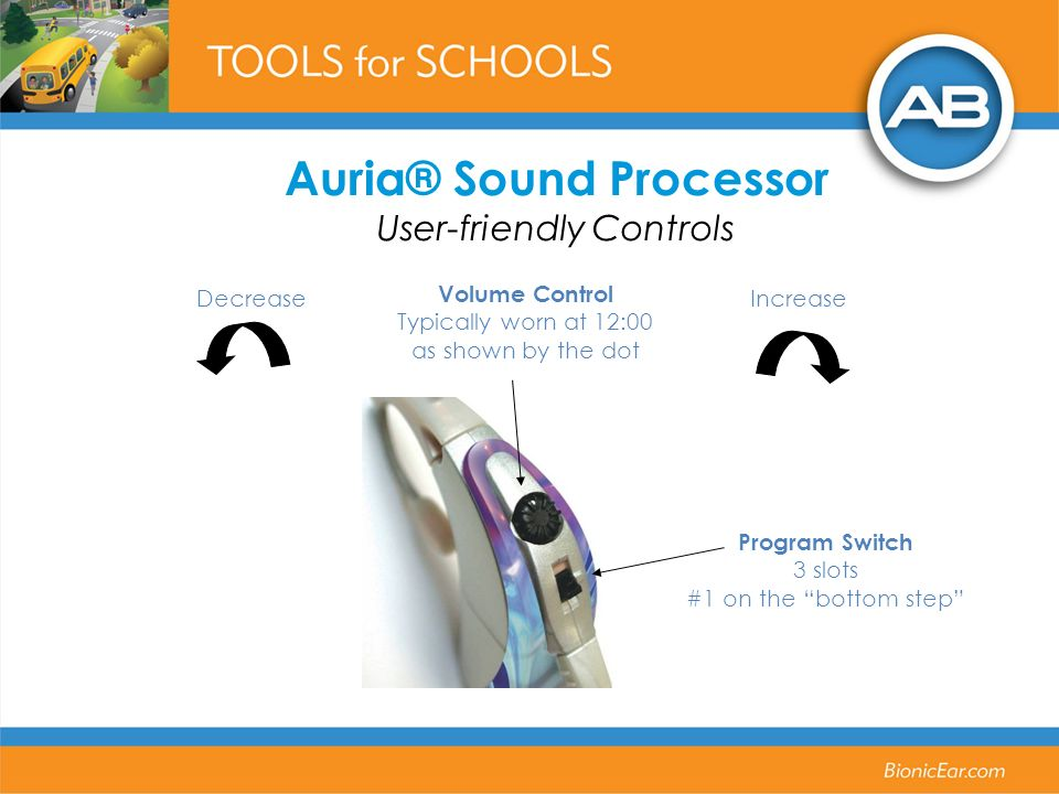 Auria® Sound Processor User-friendly Controls