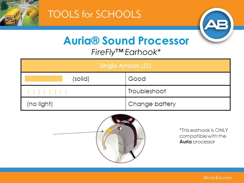 Auria® Sound Processor FireFly™ Earhook*