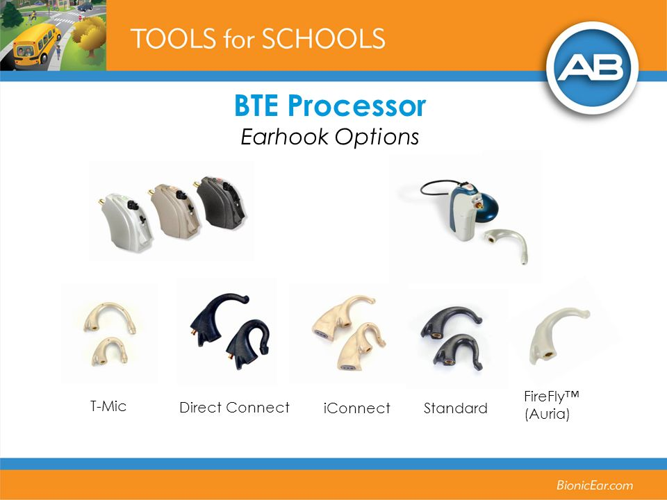 BTE Processor Earhook Options