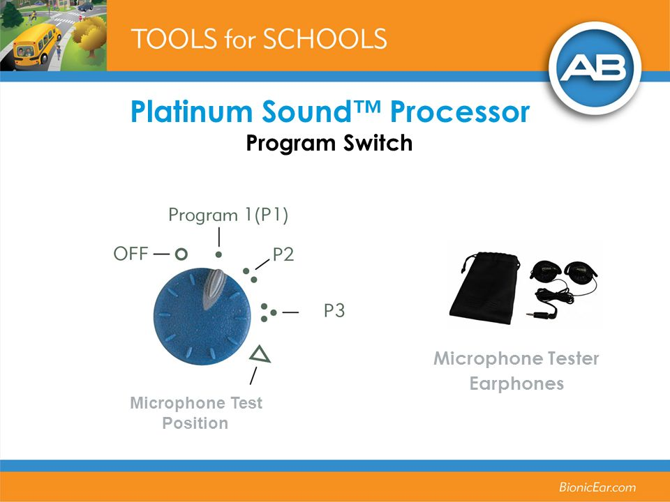 Platinum Sound™ Processor Program Switch