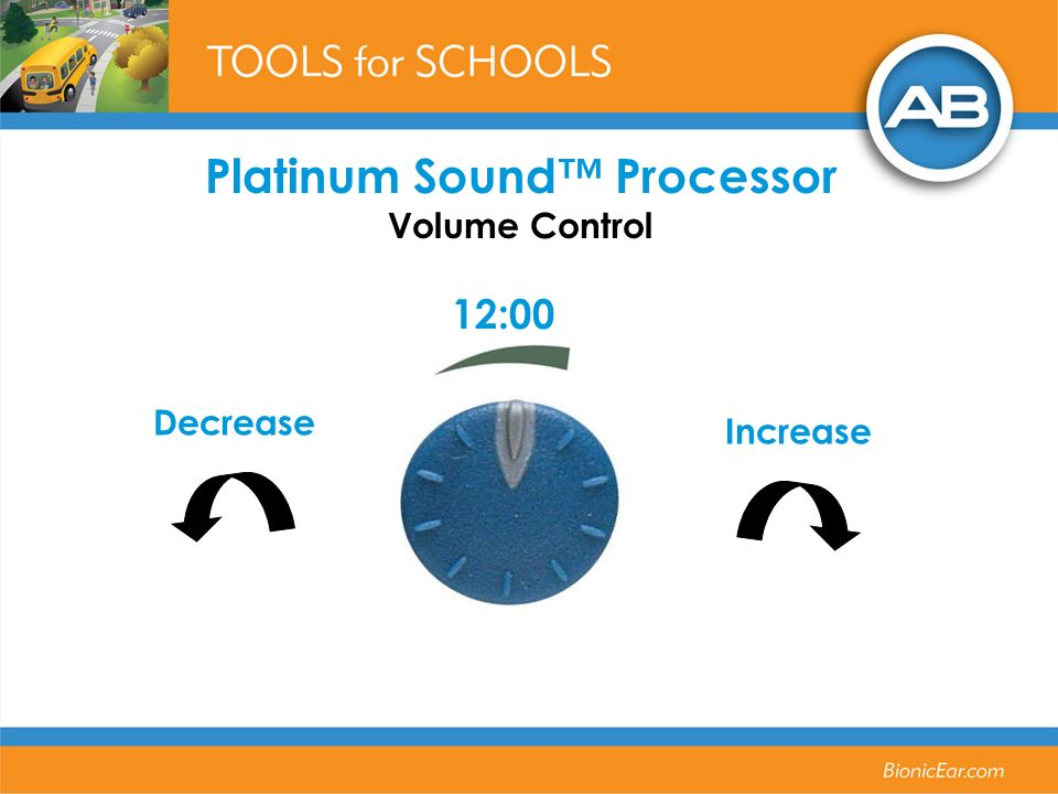 Platinum Sound™ Processor Volume Control