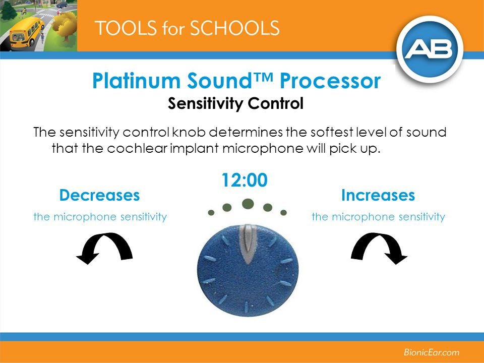 Platinum Sound™ Processor Sensitivity Control