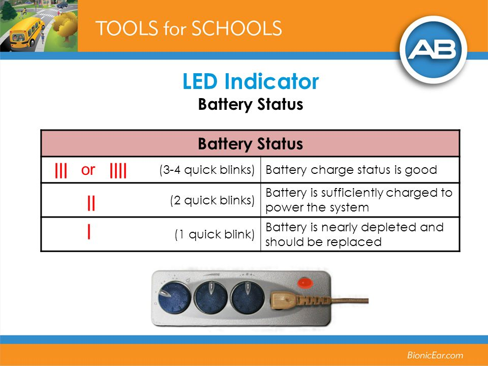 LED Indicator Battery Status
