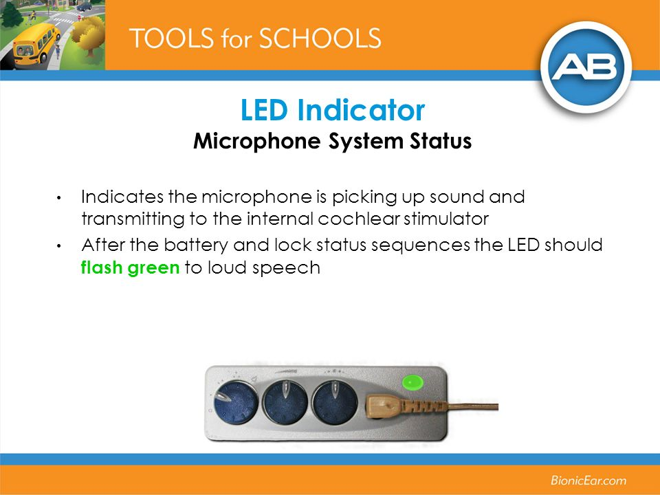 LED Indicator Microphone System Status