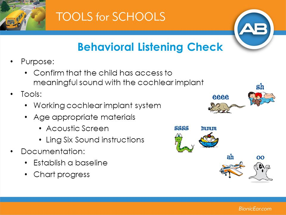 Behavioral Listening Check