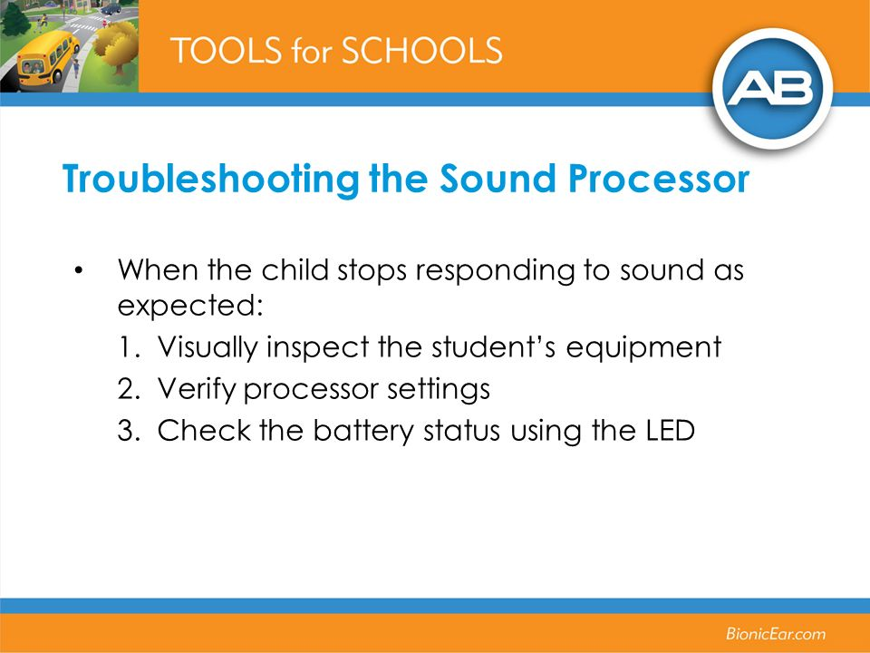 Troubleshooting the Sound Processor