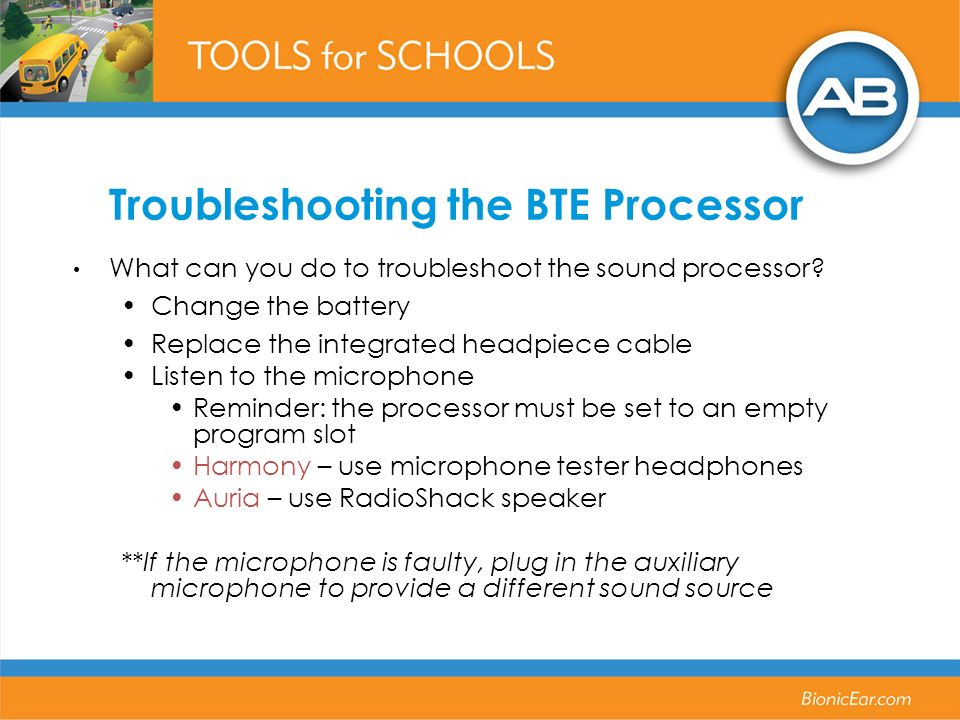 Troubleshooting the BTE Processor
