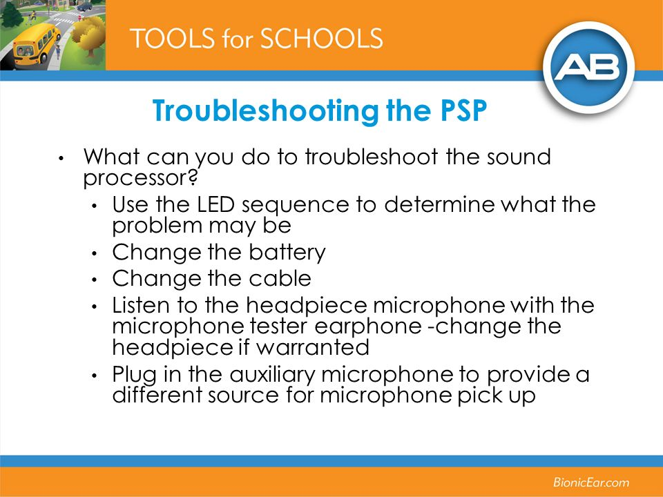 Troubleshooting the PSP