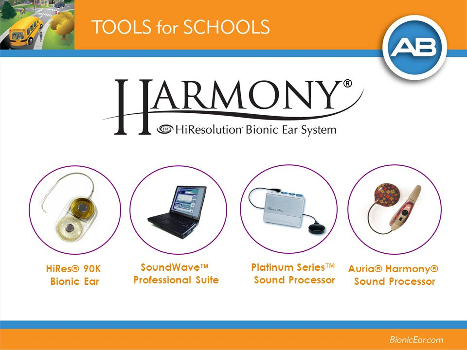 ® Auria® Harmony® Sound Processor HiRes® 90K Bionic Ear SoundWave