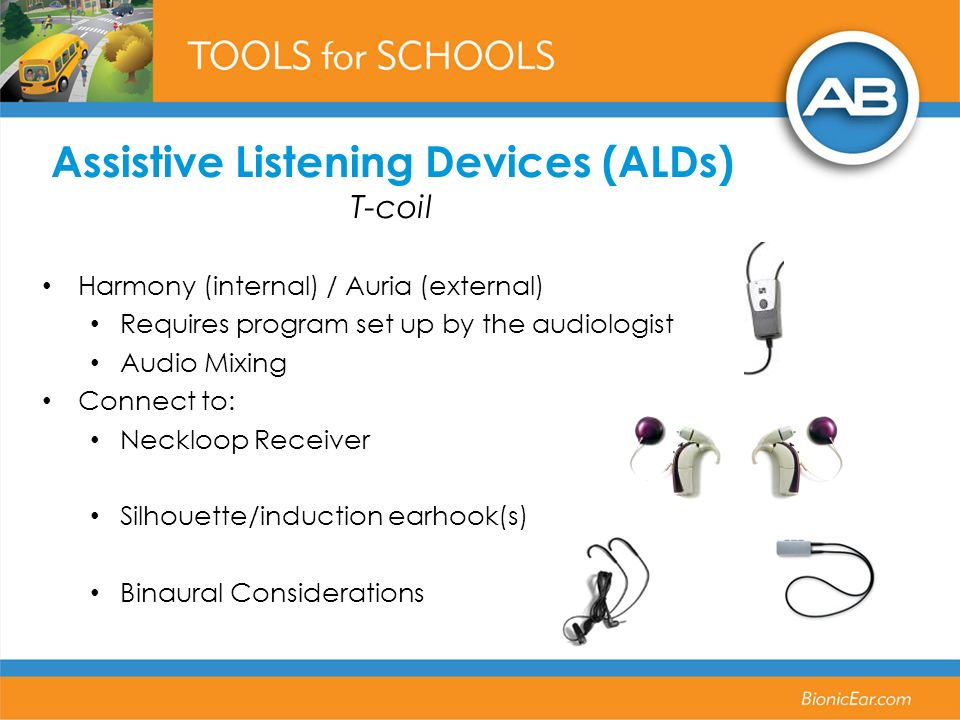 Assistive Listening Devices (ALDs) T-coil
