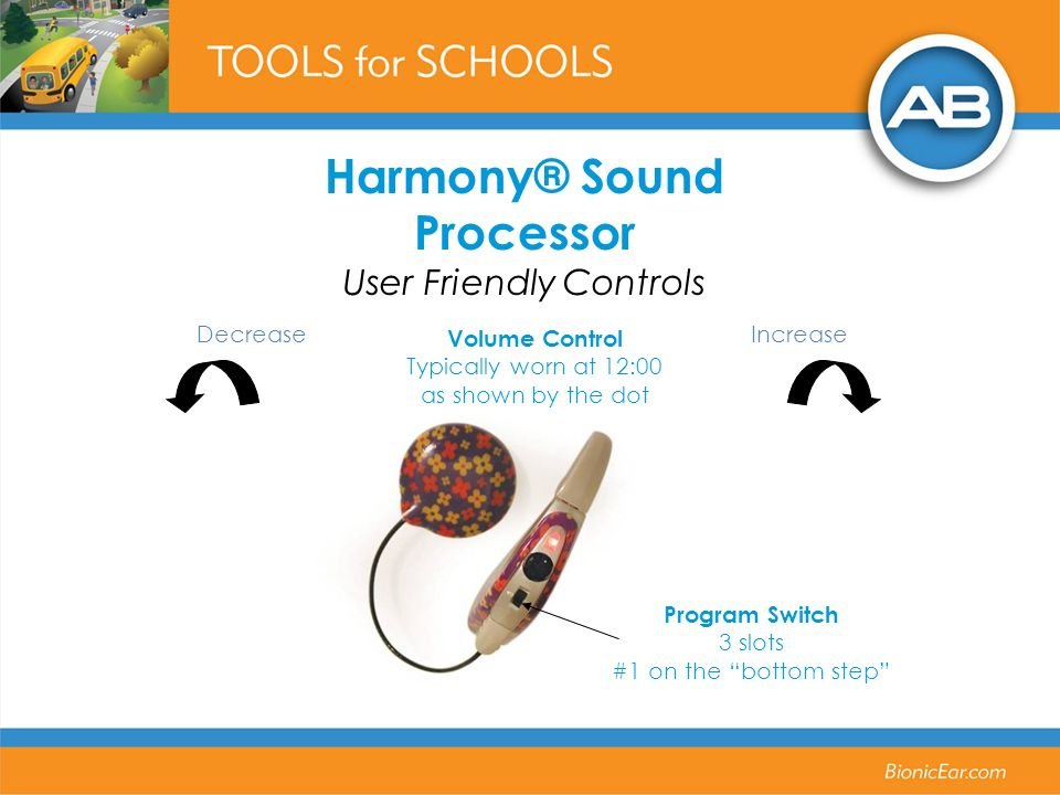 Harmony® Sound Processor User Friendly Controls